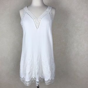 Astr Embroidered Sleeveless Tunic Top Size XS